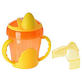 VITAL BABY TWO HANDLED TRAINER CUP ORANGE
