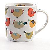 David Mason Design Chirpy Chicks 11cm Mug in White