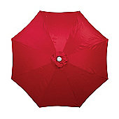 Burgundy 3m Powdercoat Aluminium Crank and Tilt Parasol (38mm Pole, 8 Ribs)