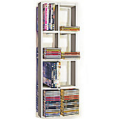 Double Wall Cd / Dvd / Blu Ray Storage Shelf - White