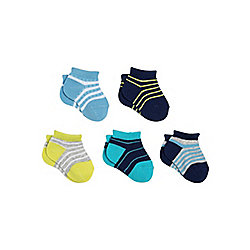 F&F 5 Pair Pack of Striped Trainer Liners