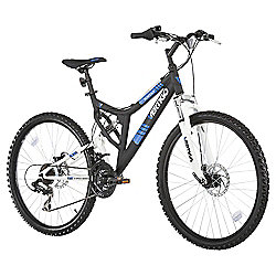 "Vertigo Monteaux 26"" Dual Suspension Mountain Bike, Black"