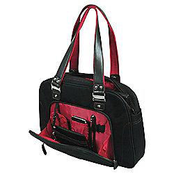 "Port Designs Adelaide Ladies Laptop Bag for Up to 15.6"" Black/Red"