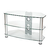 ValuFurniture Brisa 600mm Clear Glass TV Stand for up to 32 inch