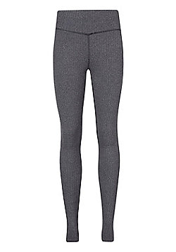 Mountain Warehouse IsoCool Dynamic Herringbone Womens Leggings - Grey