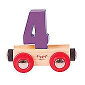 Bigjigs Rail Rail Name Number 4 (Purple)