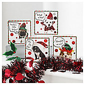 Tesco Cute Puppy Christmas Cards 20 Pack