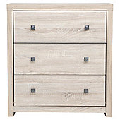 Torino 3 Drawer Chest, Oak Effect