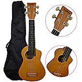 Bugs Gear Lorenzo Ukulele with Bag - Natural