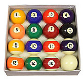 Competition 2 1/4'' Spots & Stripes Pool Ball Set