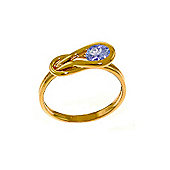 QP Jewellers 0.65ct Tanzanite San Francisco Ring in 14K Rose Gold