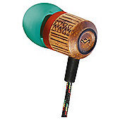 Marley Chant In Ear Headphones w/mic Green/Red