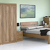 Alto Furniture Visualise Alive Three Door Wardrobe in Natural Aida Walnut