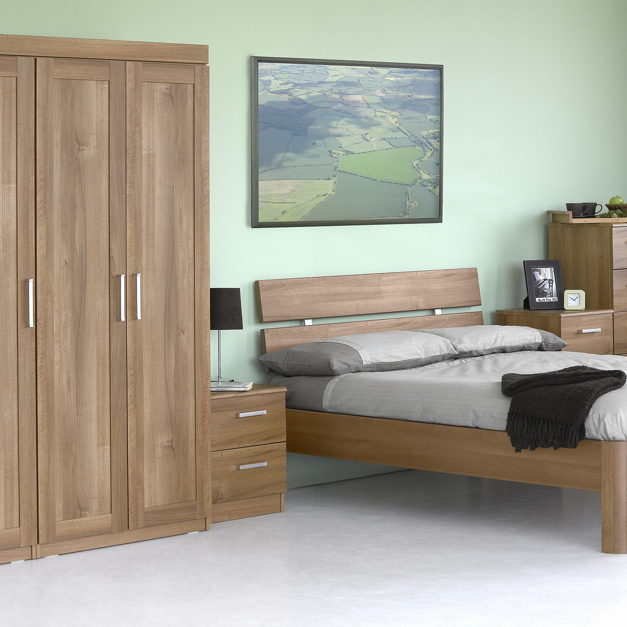 Alto Furniture Visualise Alive Three Door Wardrobe in Natural Aida Walnut at Tesco Direct