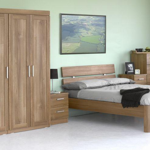 Alto Furniture Visualise Alive Three Door Wardrobe in Natural Aida Walnut