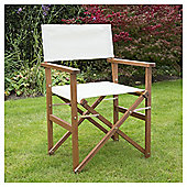 Wooden Folding Director's Chair, Cream