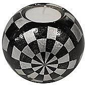 Glazed Ceramic Medium Globe Tea Light / Candle Holder