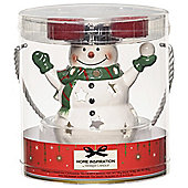 Yankee Christmas Snowman Tealight Holder