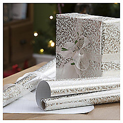 Gold Leaf Christmas Wrapping Paper, 4m