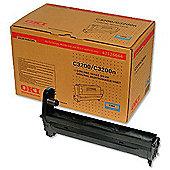 OKI Image Drum (EP Cartridge) for C3200 Desktop Colour Printers (Cyan)