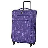 IT Luggage Megalite 4-Wheel Suitcase, Purple Large