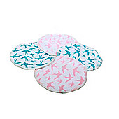 Washable Natural Bamboo Breast Pads (Mixed Colours, Pack of 4)