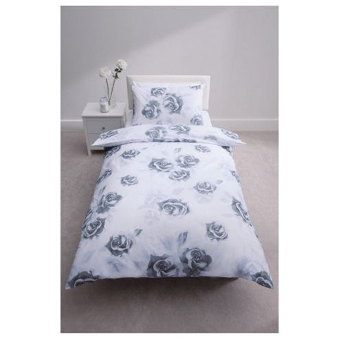 Tesco Audrey Print Duvet Cover Set Black/White Single