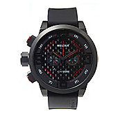 Welder Gents Black Dial Black Rubber Strap K31-10001