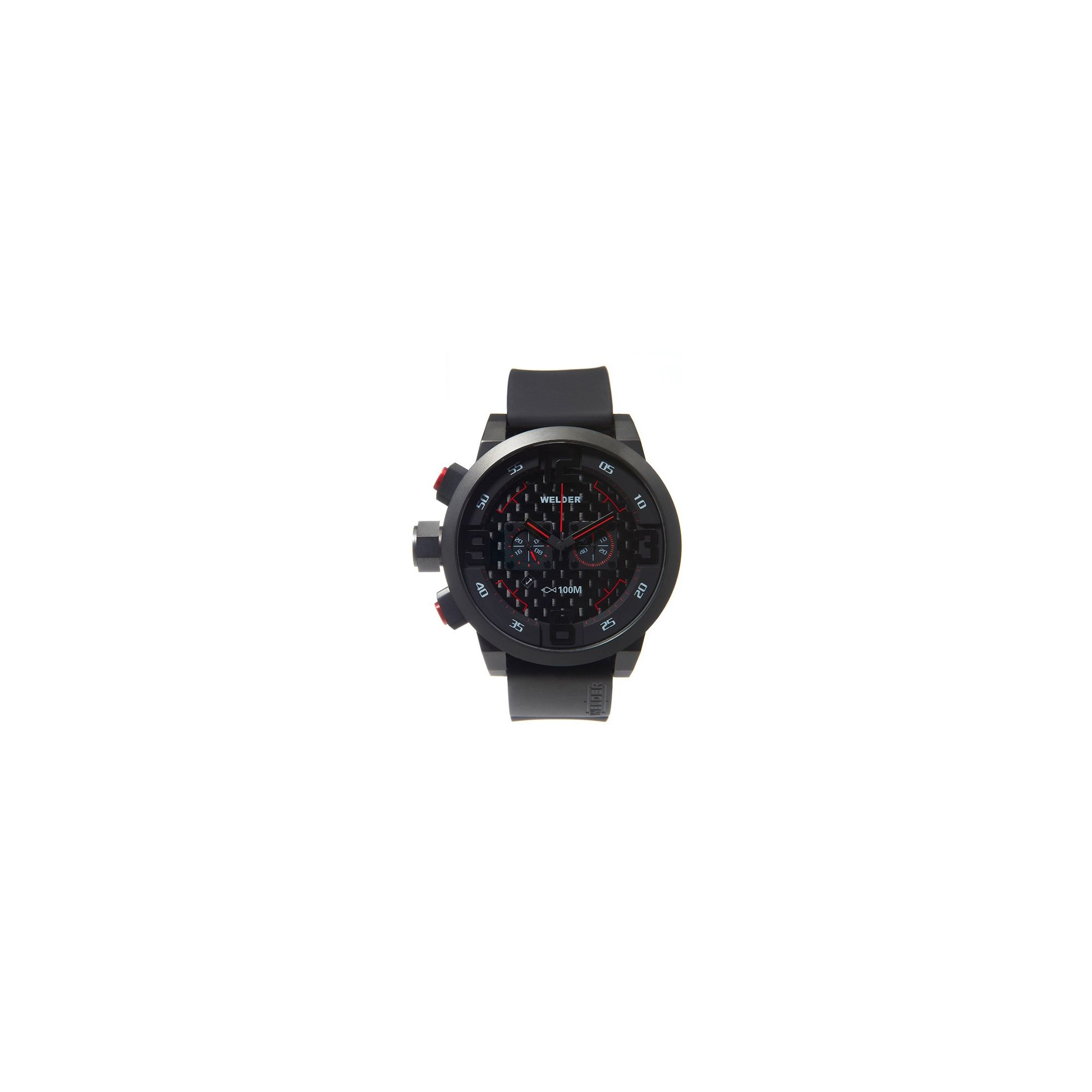 Welder Gents Black Dial Black Rubber Strap K31-10001 at Tesco Direct