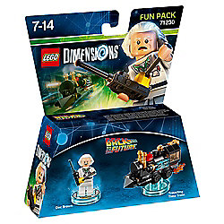 LEGO DIMENSIONS,BACK TO THE FUTURE DOC BROWN FUN PACK