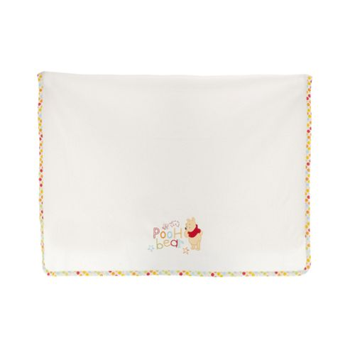 Obaby Disney Winnie the Pooh Fleece Cot Bed Blanket in White