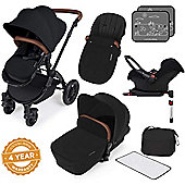 ickle bubba Stomp V3 Black All-in-One Travel System With Isofix Base (Black)