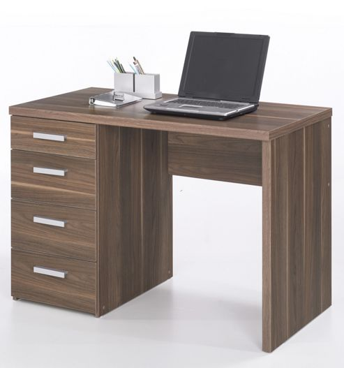 Buy tvilum function plus four drawer desk in dark walnut from our office desks tables range - Tesco office desk ...