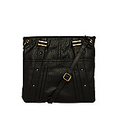 F&F Washed Studded Cross-Body Bag One Size Black