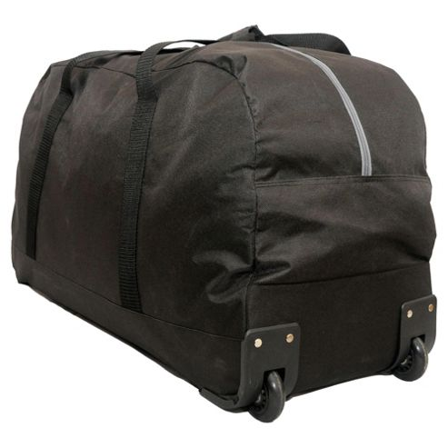Tesco Everyday Value 2-Wheel Holdall, Black Large