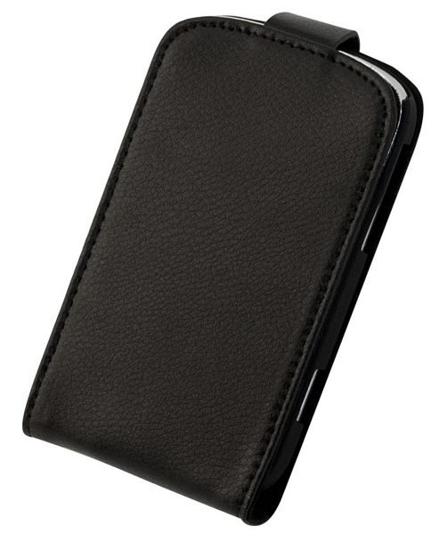 Tortoise™ Genuine Leather Flip Case BlackBerry® Bold™ 9900 Black