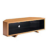 Techlink Dual Corner TV Stand for up to 55 inch TV s - Light Oak and Satin Grey