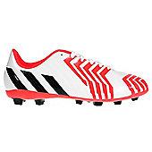 adidas Predator Predito FXG Kids Junior Firm Ground Football Boot - White