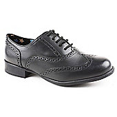 Hush Puppies Girls Black Brogue Shoe