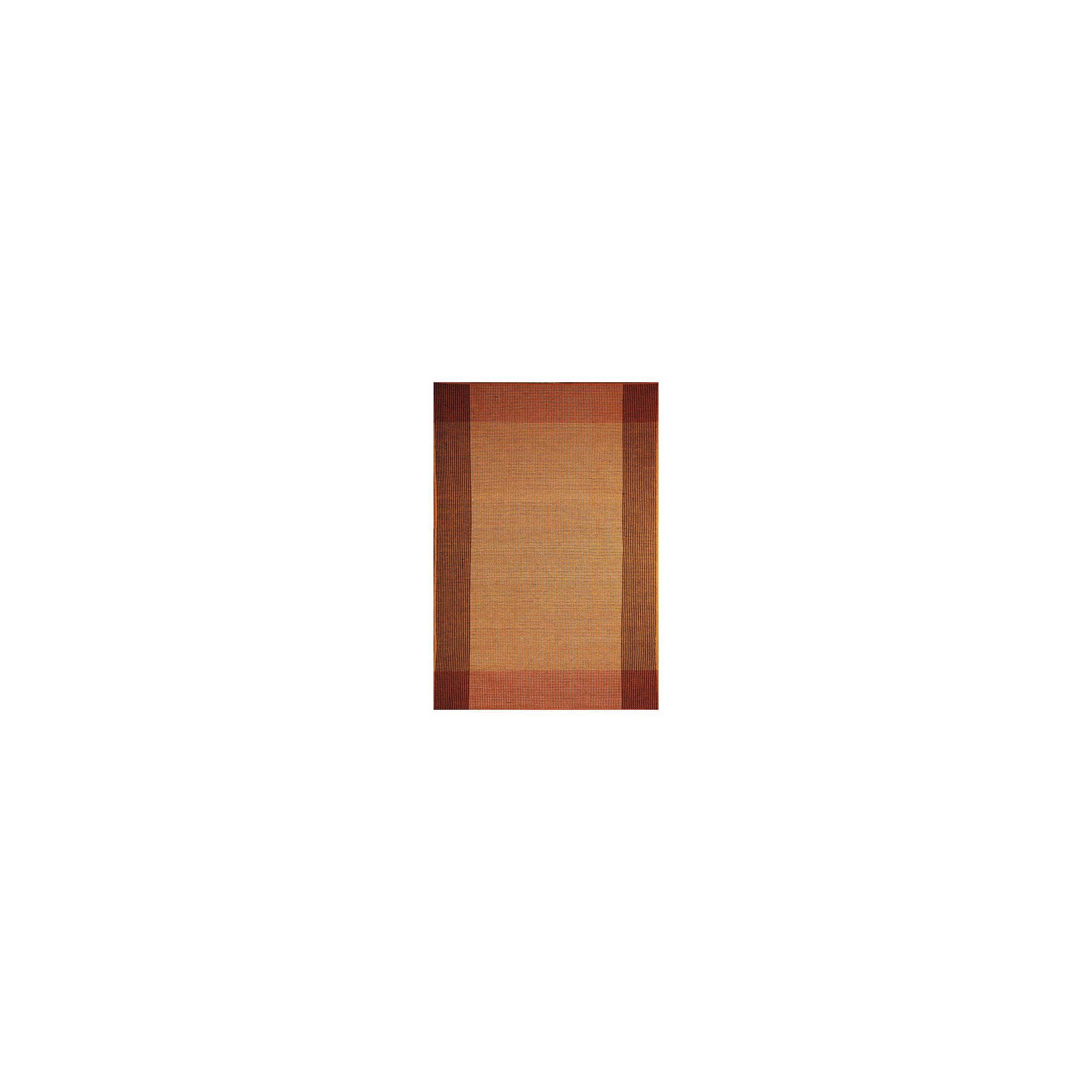 InRUGS Ellora Orange Woven Rug - 230cm x 160cm (7 ft 6.5 in x 5 ft 3 in)