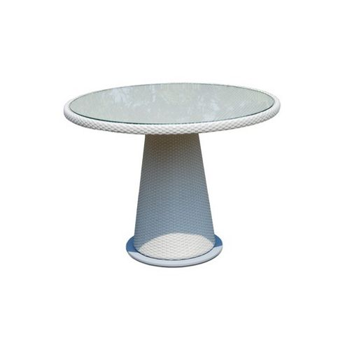 SkyLine Design Alba Table 4 Seat Dining Table - Cappucino 7mm - Rain Cover