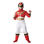 Power Rangers - Red Muscle Chest Costume 5-6 years