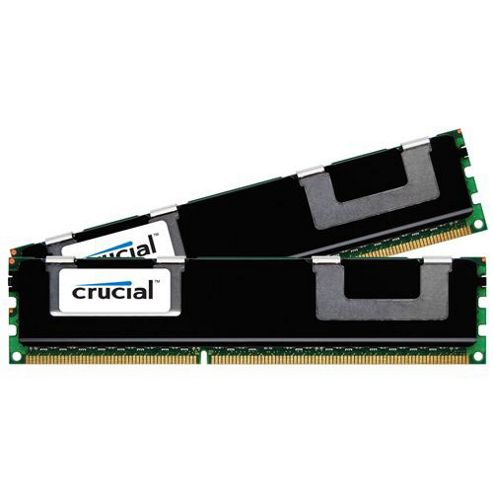 Crucial 32GB Memory Kit (2x16GB) PC3-10600 1333MHz DDR3 Registered ECC CL9 240-pin DIMM