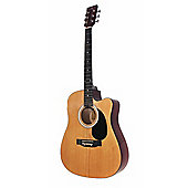 Martin Smith Full Size Cutaway Dreadnought Acoustic Guitar - Natural
