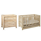 Tutti Bambini Milan 2 Piece Nursery Room Set, Reclaimed Oak