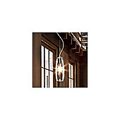 De Majo Peroni One Light Pendant - Amber Stained