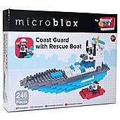Grafix Microblox Building Bricks Coast Guard with Boat Rescue Boat