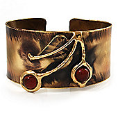 Ethnic Cherry Handmade Cuff Bangle