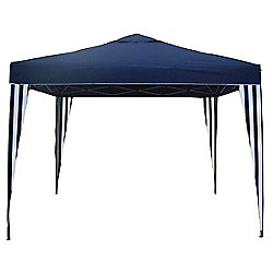 Bentley Garden 3m x 3m Blue & White Striped Gazebo