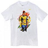 2014-15 Brazil Nike Neymar Hero T-Shirt (White) - Kids - White
